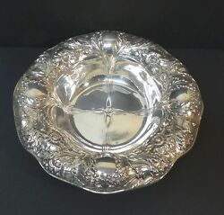 Stunning Antique Gorham Sterling Silver Art Nouveau Chased Repousse Bowl