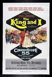 THE KING AND I * CineMasterpieces ORIGINAL MOVIE POSTER 1956 HOLLYWOOD MUSICAL