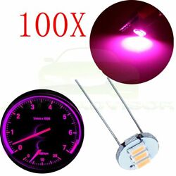 100x 4.7mm Purple 3SMD LED Bubls For GM Chevy Instrument Cluster Climate Control