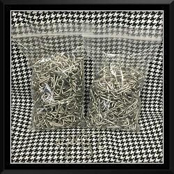 1000 Stainless Steel Hog Rings 3/4 14 G Upholstery Fences Cages Over 1lb.