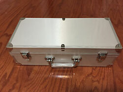 Aluminum Storage amp; Display Box Case Holds 50 PCGS NGC ANACS Coin Holders Slabs $39.99