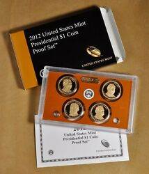 2012 Presidential Proof Set 4 Coins W/ Box And Coa