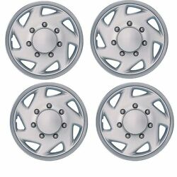 Ford E350 Van Wheel Cover Hub Cap 16 Inch Silver Ref609st New Set Of 4pc