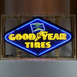 Goodyear Tires Neon Sign Good Year Rubber Ohio Dads Garge Wall Lamp Shop Light