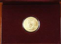 2007-w 10 Dolley Madison Commem Gold Bu Coin W/ Mint Issued Wooden Case No Coa