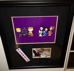 Peanuts Cel A Charlie Brown Christmas Rehearsal Signed Bill Melendez Rare Cell