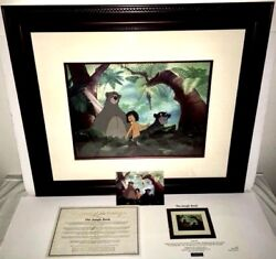 disney animation cel the jungle book  jungle pals extremely rare edition cell