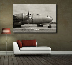 Wwii Heavy Bomber Military Air Force Aircraft Canvas Art Poster Print