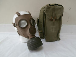 Belgian M51 Army Gas Mask With Filter And Bag Original Military Issue Equipment