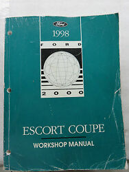 1998 Ford Escort Coupe Service Repair Manual OEM Factory Dealership Workshop