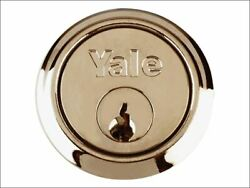 Yale Locks - P1109 Replacement Rim Cylinder And 4 Keys Polished Brass Finish Visi