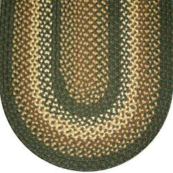 Sage Green Basket Weave Braided Area Rugs By Colonial Rug--many Sizes 827