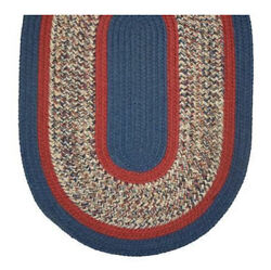 Midnight Blue Red Tweed Braided Area Rugs By Colonial Rug--many Sizes 440ex