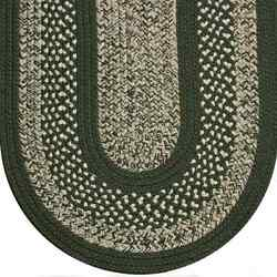 Sage Green Beige Cream Tweed Braided Area Rugs By Colonial Rug-many Sizes 127