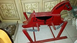 Vintage The Wonder Horse Rocking Wooden Red Riding Toy