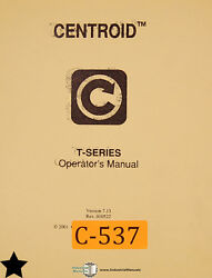Centroid T Series Control System Mastercam 386 Lathe Operations And Program Manual