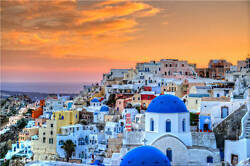 Fira Santorini Greek Aegean Full Wall Mural Photo Wallpaper Print Home 3d Decal