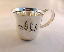 Figural Swedish 830 Sterling Baby Cup- Date Mark 1959-2 1/2