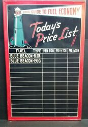 Gas Sign Advertising Blue Beacon Fuel Oil Coal Prices Light House 34