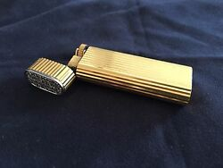 Vintage Gold Plated Lighter Custom Attached 27+1 Real Diamonds