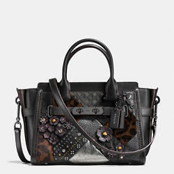 Nwt Coach Embellished Canyon Quilt Swagger 27 In Pebble Leather 55503 695
