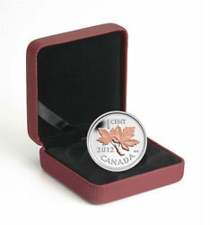 Canada 1/2 Oz Fine Silver With Pink Gold Plating - Farewell To The Penny 2012