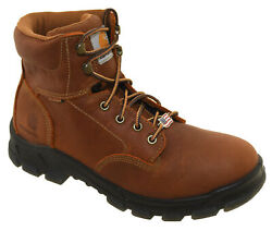 Menand039s Waterproof 6 Brown Work Boots Made In The Usa Cmz6040