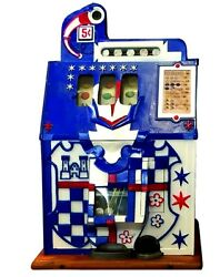 Antique 5andcent Mills Novelty Co. Castle Front Coin Op Slot Machine Circa 1930
