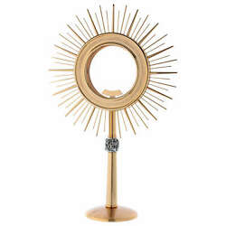 Monstrance Glass Display With Rays Brass