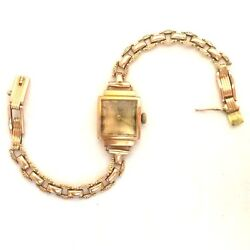 Russian Made Ladies Watch Luch-zaria Rare Ussr Brand Vintage 58314k Rose Gold