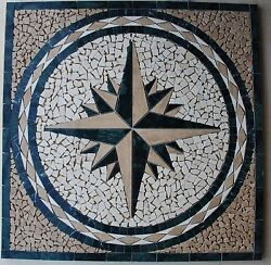 30 Marble Tile Mosaic Medallion Design Stone Flooring Or Wall Piece 10a