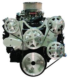 Billet Serpentine Kit - Small Block Chevy - Machined Finish - No Ac And W/ps
