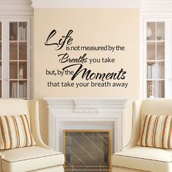 Family Removable Wall Decal Inspired Life is Not Measured Quote Vinyl Art Decor