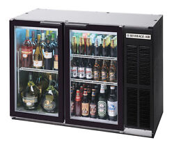 Beverage-air 12.4 Cuft Two Section Black Finish Shallow Depth Bar Cooler