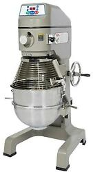 Globe SP40 40 Quart Planetary Mixer Commercial 3 Speed with Timer 2 HP