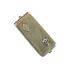 Eam Co.14k Yellow Gold Card Stamp Case Benevolent And Protective Order Of Elks