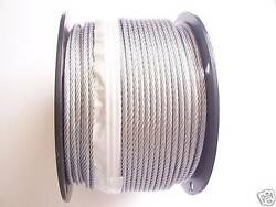 Galvanized Wire Rope Cable 3/16, 7x19 50,100, 200, 250, 300, 500, 750, 1000 Ft