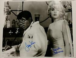 Jerry Lewis + Stella Stevens Signed 16x20 Canvas 2 The Nutty Professor Psa/dna