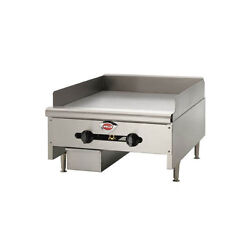 Wells Hdg-4830g-qs 48 Quickship Countertop Manual Griddle W/ 3/4 Plate - Nat