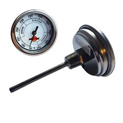 Lavalock® 3 Insulated Charcoal Smoker Pit Grill Thermometer Bbq 4 In. Long Stem