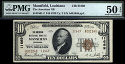 10 1929 Type2 The American National Bank Of Mansfield, Louisiana No Large Known