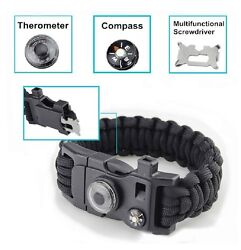 Bulk Buy 80 All-new Super Cool Paracord Bracelets With 15 Tools Black Color