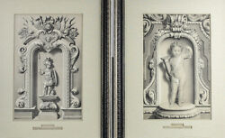 Adolphe Bilordeaux French 1807-1870 Pair Of Lithographs Etudes Dand039ornaments