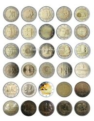 Rm 2 Euro Commemorative Luxembourg 2004-2021 - All Pieces - Please Choose