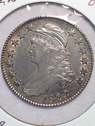 1823 50c O 101 Broken 3 Us Capped Bust Ch Au Cleaned