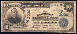 10 1902 Pb The Lewiston National Bank, Idaho Ch 3023 Only 11 Large