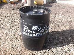 Beer Keg Black Plastic 15 1/2 Gallons Used Once They Have Beer Residue In Them