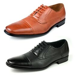 New Fashion Men Lace Up Oxfords Dress Shoes Style In Italy Cap Toe