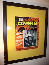 The Beatles//one Of A Kind//cavern Club Poster From The 1960and039s//rare//rare//rare