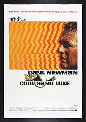 COOL HAND LUKE * CineMasterpieces LINEN BACKED 1SH MOVIE POSTER 1967 PAUL NEWMAN
